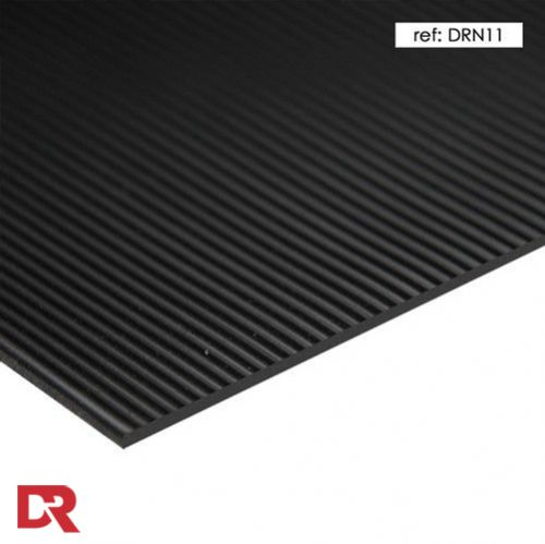 Fine ribbed rubber matting - 1.2 metre wide